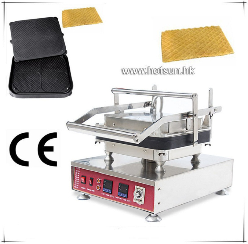 Free Shipping Professional Non-stick 110V 220V Electric 4pcs Rhombus Big Waffle Pie Maker Machine with Removable Plate free shipping professional non stick 110v 220v electric 12pcs round circle waffle cake maker machine with removable plate