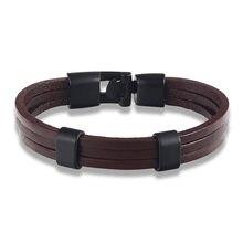Горячая Мода черный сплав мужской браслет Высокое качество Ретро