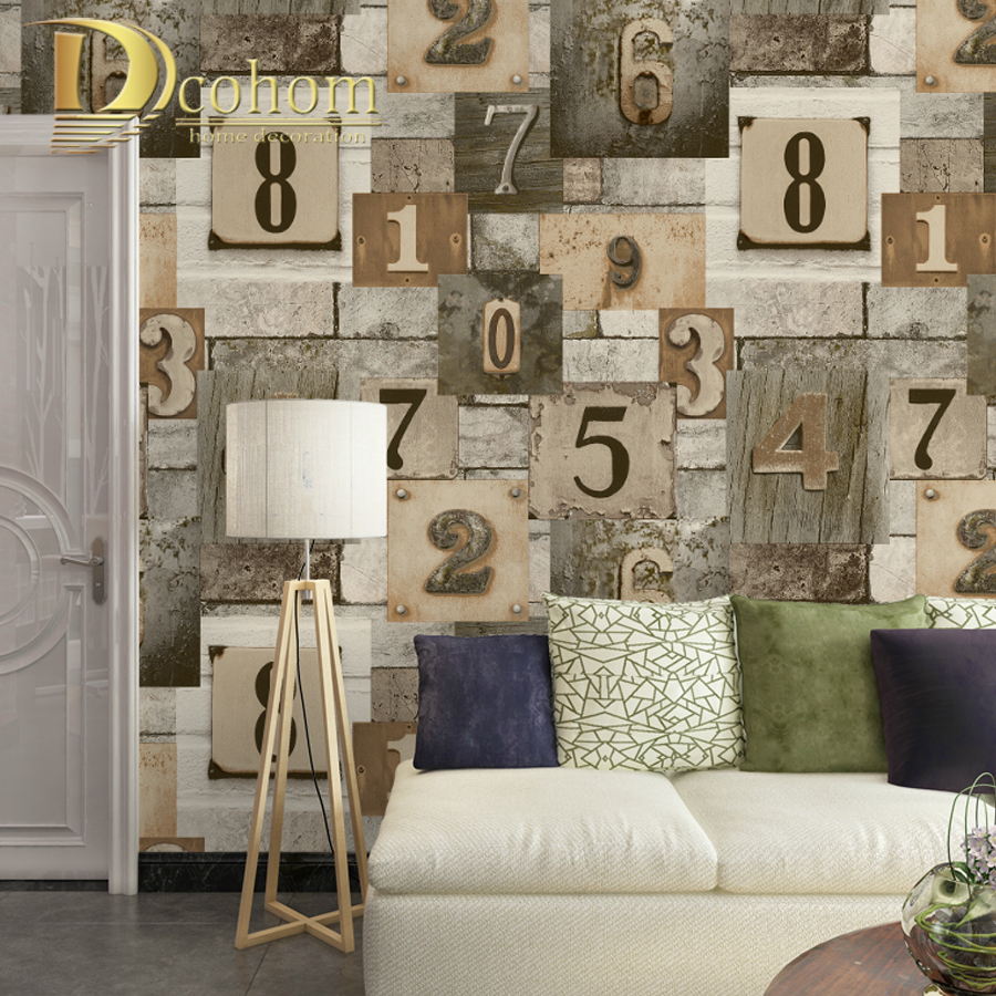Dcohom Modern Vintage Wood Brick Wall Art Wallpaper For Bedroom Living Room Sofa TV Walls Decor embossed Vinyl Wall Paper Rolls simple particle embossed plaid glitter flower wallpaper living room tv background modern wall covering floral wall paper rolls