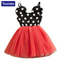2017 Girl Dot Dress Girls Summer Princess Dresses Children Cotton Vestidos Mickey Party Kids Clothes Kid Dress Summer Clothing