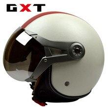 цена на GXT Motorcycle Scooter Helmet Motorcycle 3/4 Open Face halmet Motocross Vintage Casque Moto Casque Casco Motocicleta Capacete