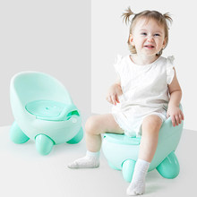 Portable Potty Baby Toilet Seat Pot Bowl Cute Children's Pot Kids Plastic Training Pan Boy Girl Comfortable Backrest Toilet Pots(China)