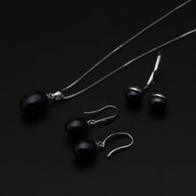 Natural freshwater pearl jewelry set 925 silver