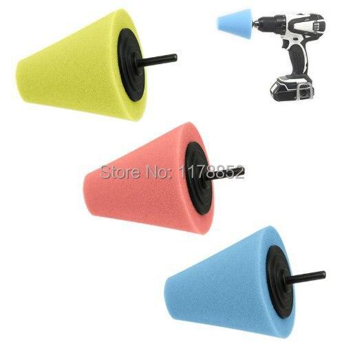 Sponge Cone Metal Polishing Foam Pad Car Wheel Hub Care Polish Tool - Use with Power Drill Foam