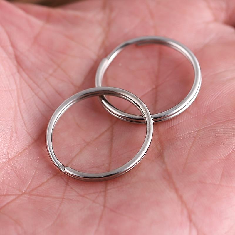 10 unids EDC acampar equipo anillo de metal 25mm Ronda Clave Dividir Anillos lla