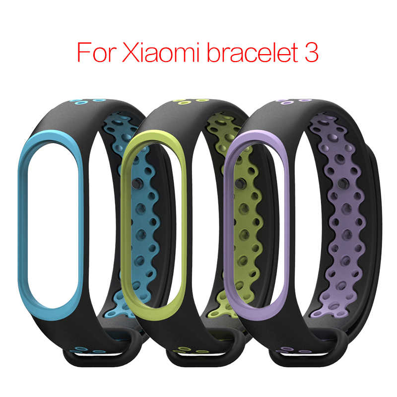New Applicable for Xiaomi Mi Band 3 Strap Wristband Sports Version Two-color Replacement Strap for Xiaomi Mi Band 4 Universal