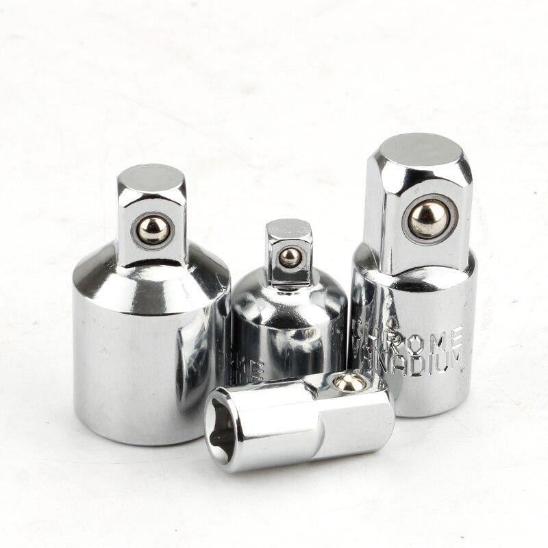 """4 Pcs Ratsche Buchse Adapter Reducer Konverter Set 1/2 """"zu 3/8"""" zu 1/4 """"Hand Tools Kit crv stahl"""