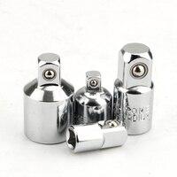 Juego de adaptador de Llave de trinquete, Kit de herramientas de mano de acero CR-V, convertidor reductor de 1/2