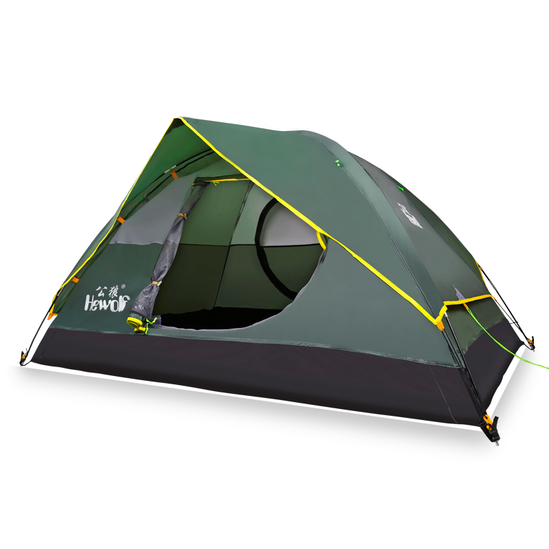 2018 Double tent outdoor automatic speed open throwing pop up windproof waterproof camping tent large space outdoor camping hiking automatic camping tent 4person double layer family tent sun shelter gazebo beach tent awning tourist tent