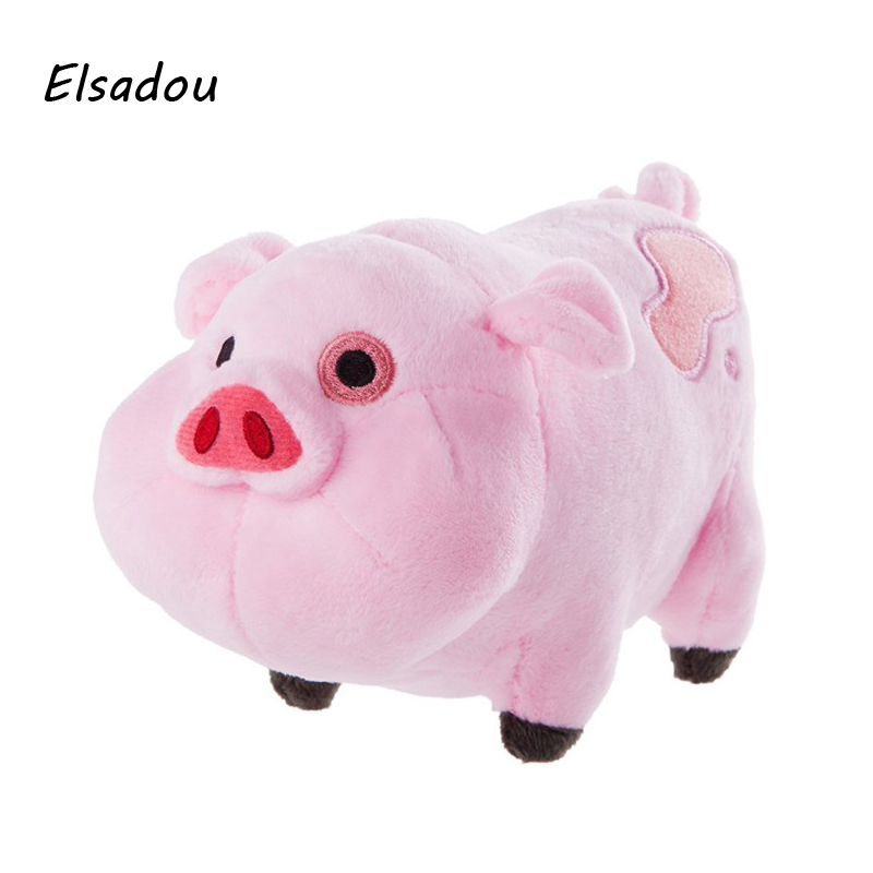 Elsadou Gravity Falls Pink Pig Plush font b Toys b font Stuffed Plush Animals