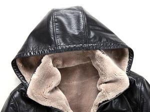 Image 5 - 2019 Yeni Erkek Hakiki Deri Ceket koyun derisi erkek Kapüşonlu Ceket deri kışlık ceketler erkek EMS Ücretsiz Kargo Artı Boyutu M 5XL
