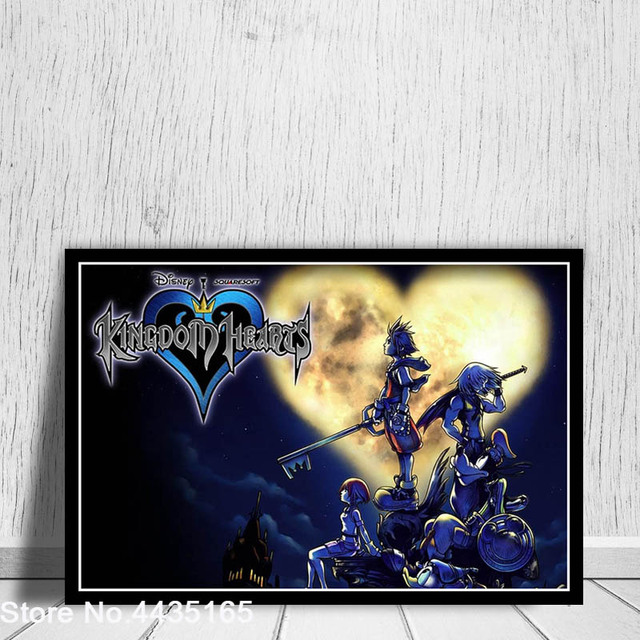 Posters and Prints Kingdom Hearts Game Art Poster wall art Picture Canvas Painting for Modern Living Room Home Decoration 5
