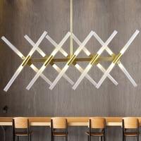 Moderne Kroonluchter Lichtpunt Goud/Zwarte Minimalistische Art Decoratie G4 LED Kroonluchter Lamp Voor Eetkamer Woonkamer