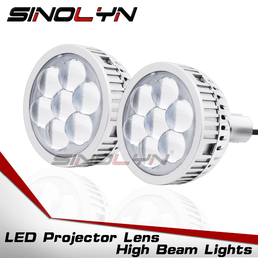 3.0 Car LED Projector Lens High Beam Lights Daytime Running Lights Devil Eyes DRL H1 H7 9005 9006 LED Light Lenses Q45 Style