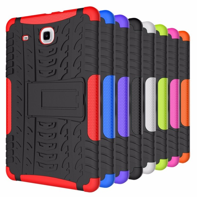 Dazzle Влияние Гибридный Броня Kickstand жесткий TPU + PC чехол для samsung Galaxy Tab E 9,6 дюймов T560 T561 case для tablet