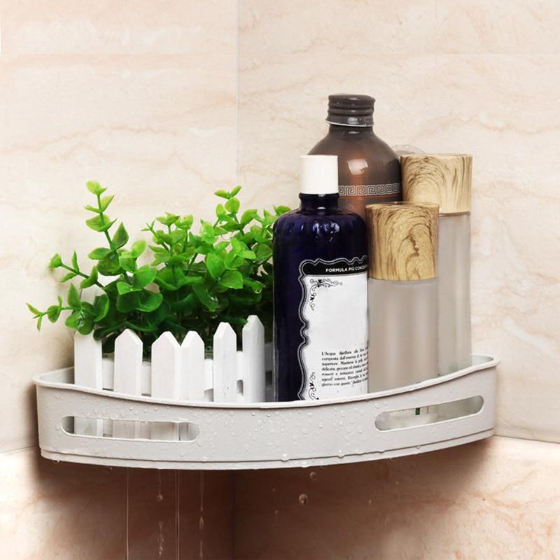 23*23*5 cm Hoek Opslag Houder Planken Badkamer Shampoo Douche Keuken Opslag Rack Organizer Beste Prijs