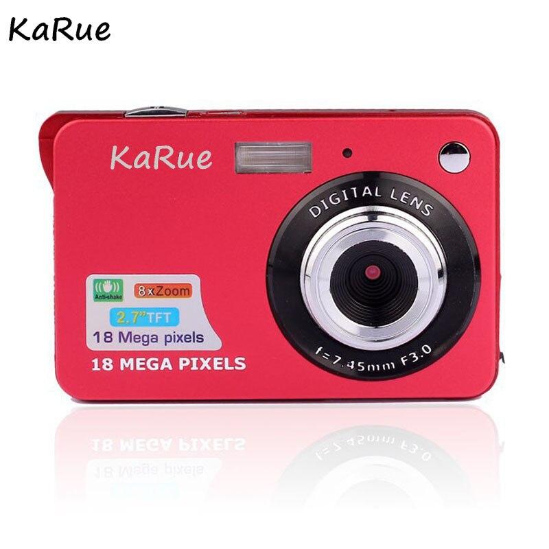 KaRue высокое качество Портативный 18MP 720 P Мини цифровой Камера 8x цифровой зум фоторамка 2,7 дюймов Экран 5MP CMOS цифровой видео