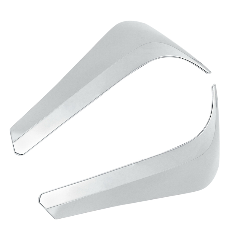 Abs Chrome Rear Window Side Spoiler Wing Cover Trim for Highlander Kluger 14~18