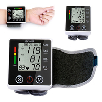 NEWEST Automatic Wrist Blood Pressure Monitor Digital Sphgmomanometer LCD Screen Health Care Device With Case