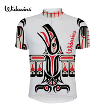 Fighter Mens Summer Short Sleeve Cycling Jersey MTB Bike Bicycle Printing Shirt Sportswear Clothing - Color Blue Green Red 5431