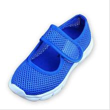 Children's Multi-Colored Sneakers Girls Sandals Students Candy Color Girls Mesh Hollow Flat Sneakers Fashion Boys Kids Sandals blue mesh hollow design flat sandals