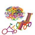 130 ШТ. Интеллектуальной Бар Ребенок Смарт Придерживайтесь Строительные Блоки Пластиковые Собраны Развивающие Игрушки Лоскутное Игрушка