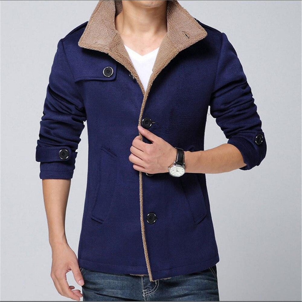 Papa Chen Hiver Hommes trench-coat Laine Long Coupe-Vent vestes pour hommes Manteaux Hommes de Costume grande taille 4XL