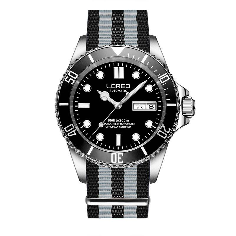 LOREO 9203 Germany watches men luxury brand automatic self-wind luminous DIVER 200M oyster perpetual explorer relogio masculino loreo 9203 germany diver 200m oyster perpetual air king automatic self wind luminous watches men luxury brand stainless steel