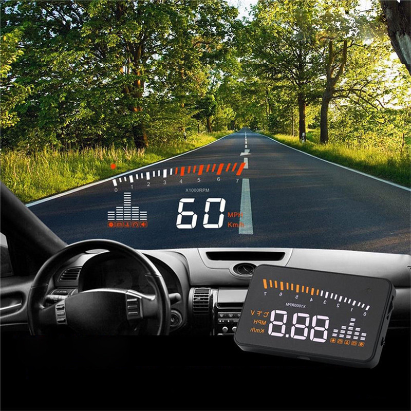Common Speedometer Over-Pace Alarm Digital Automotive-Styling Automotive Projector On The Windshield Automotive Hud Head Up Show