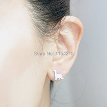 New Fashion  Gold Silver and Rose gold Dinosaur Stud Earrings Cute fashion jewelry everydany EY-E015