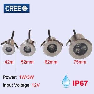 Ip67 12V 24V 110V 220V похороненный светильник мини открытый водонепроницаемый светодиодный подземный светильник 1W 3W RGB Красный Зеленый Синий 3W свет...