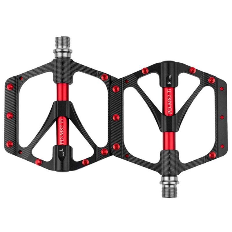 Promend pédale de bicyclette ti arbre VTT pédalier sport Ultra léger 251g non-glissement grand bloc usure qualité supérieure pédale