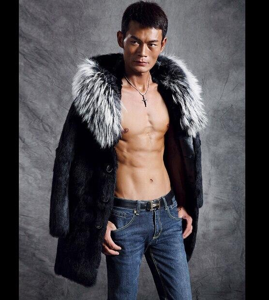 Faux fur coat men New Arrival fashion fur collar leather jacket men Big  lapel mens leather jackets and coats outdoor man Outwear 5a9b777c4757
