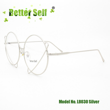 Better Self Stock L8030 Woman Glasses Optical Frames Metal Universe Round Frame Eyewear Black Silver Gold Spectacles