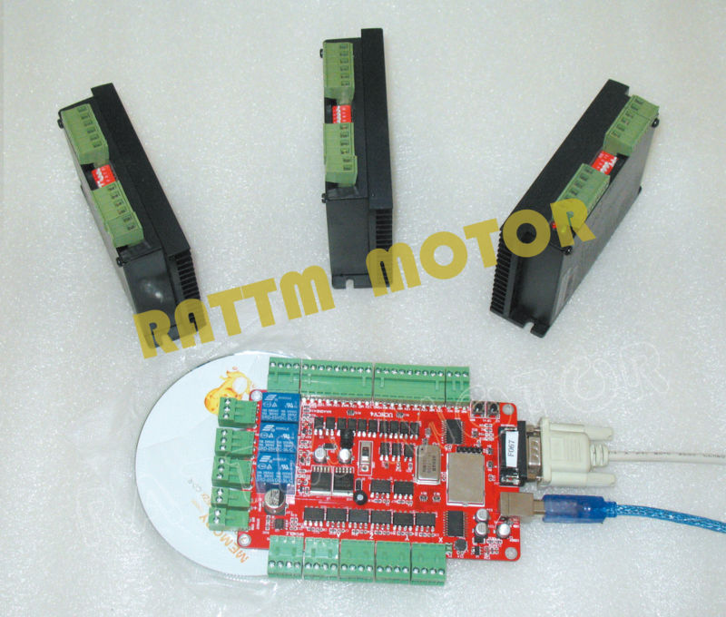 Buy 3 axis stepper usb controller kit for 3 axis servo motor kit