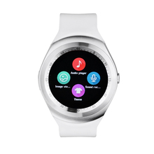 Yuntab Y1 Smart Watch Bluetooth Sleep Monitor Pedometer  1.54 inch Touch Screen for IOS Android, upport SIM card (White)