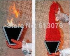 Multi-cône-feu tours de magie soie Scarve apparaissant Magia scène Illusions accessoires de Gimmick