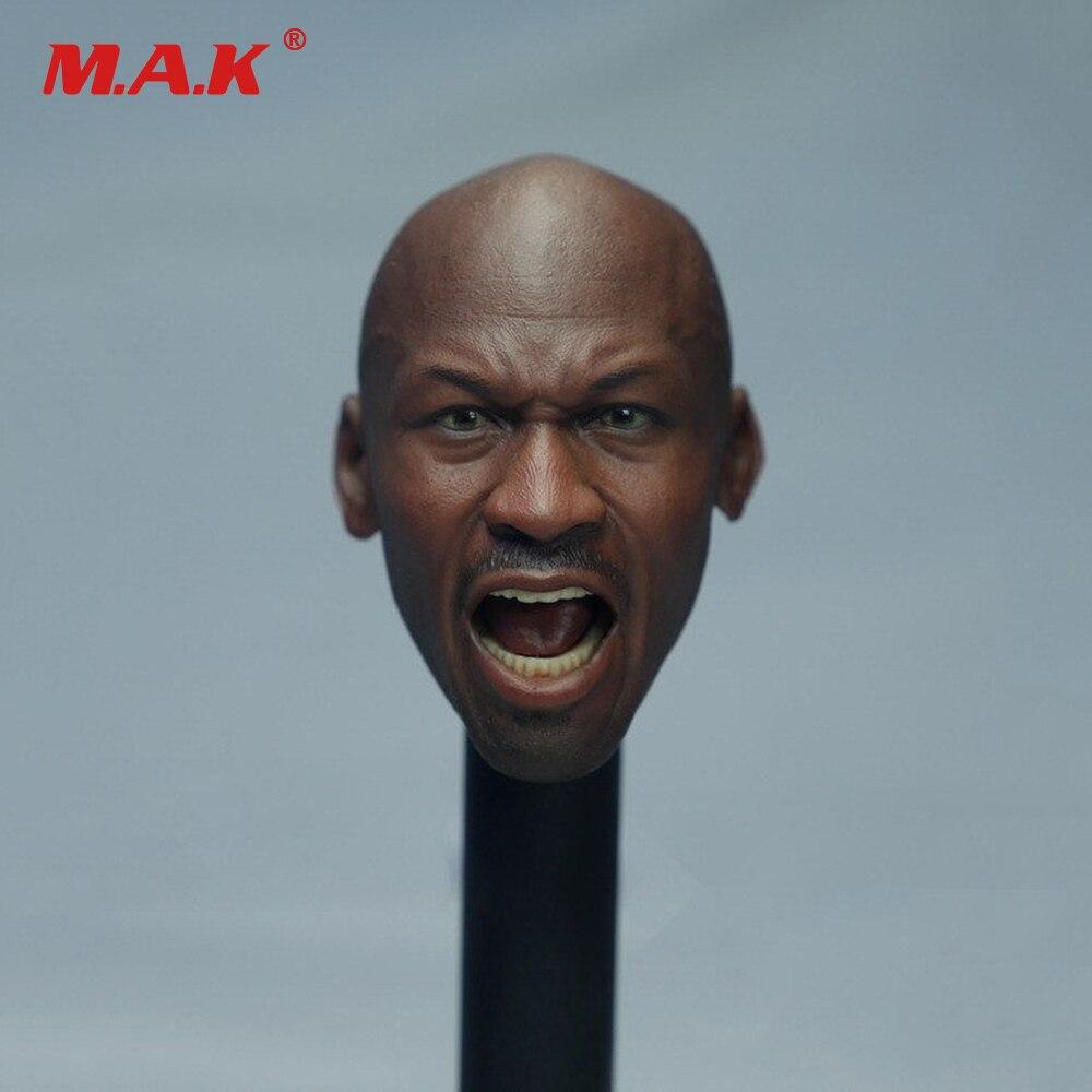где купить 1/6 Scale Male Head Sculpts Super Basketball Star Michael Roar Version Head Carving Model Toys for 12