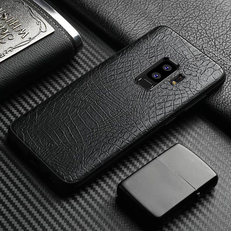 Vintage luxury crocodile leather business style phone case shell Bag For Samsung Galaxy S8 S9 PLUS Note 8 soft coque cover capa