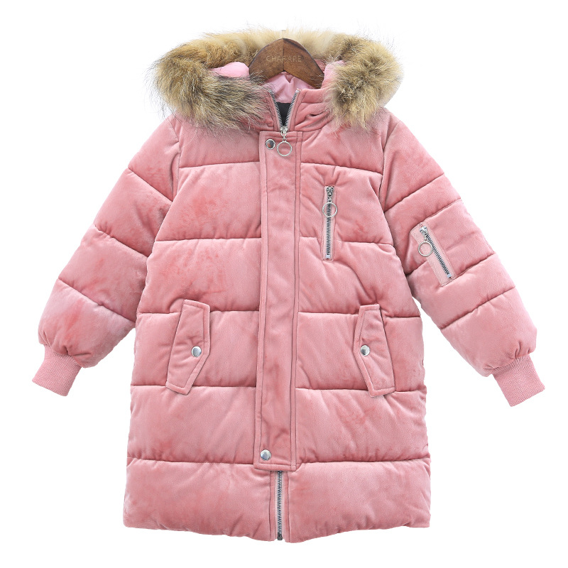 2017 Children Outerwear Baby Girls Winter Jackets Coats Kids Overcoat Thick Warm Fashion Beautiful Velvet Cotton-padded Clothes womens winter jackets lambs wool cotton padded jackets coats clothes female warm fashion thick parkas abrigos mujer tops c1672