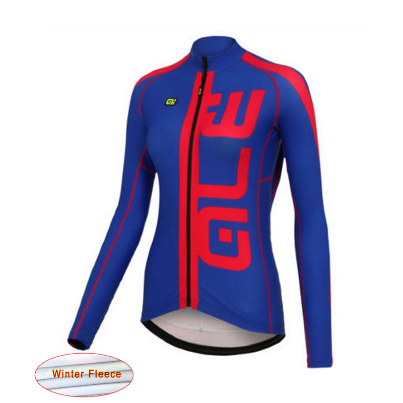 ALE 2017 Pro Team Woman Cycling Jersey winter thermal fleece cycle font b clothing b font