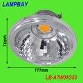 Led AR111 COB refletor 7 W G53 12 V 770LM substituir a 50 W lâmpada de alta lumens dois anos de garantia