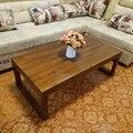 Simple moderna mesa de madera maciza mesa de la sala de estar creativa personalidad de la moda de estilo simple pequeña mesa de apartamentos de gran tamaño
