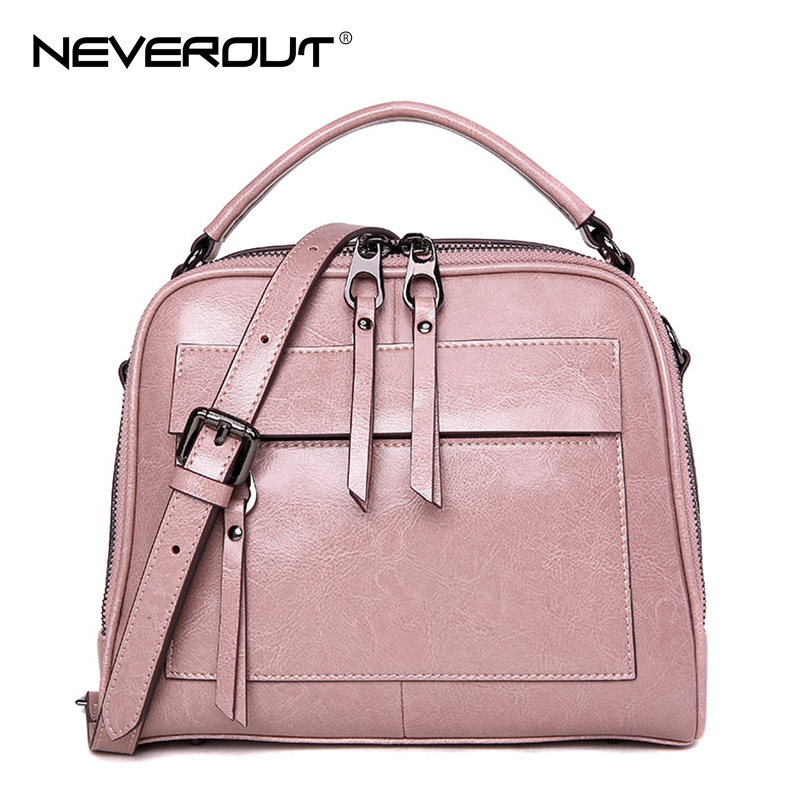 NeverOut New Women Bag Oil Wax Split Leather Bag Female Flap Bags Style Vintage Lady Shoulder Bags Sac Brand Name Handbags Tote sisjuly 2017 new leather bag women handbags casual tote luxury brand designer oil wax lady shoulder bags female sac a main