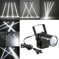 3W LED White Beam Spotlight DJ Bar Dance Party Stage Light Pinspot Show Disco DJ Lights