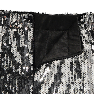 Image 5 - Shiny Stretchy High Waist Gold Black Silver Women Sequin Pencil Skirt Jupe Falda Saia Long Sexy Club Party Bodycon Midi Skirt