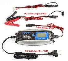 Chargeur de batterie intelligent de voiture de moto de Scooter de 6 V 12 V 0.8A 4A avec le connecteur rapide de SAE, chargeur de batterie polyvalent humide dagm EFB
