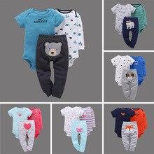 Baby Favorite 2018 Summer Girls Boys Clothes Sets 3Pcs/Lot Newborn Children's Floral Clothing 0-2 Years Direct Carterrrr bebek