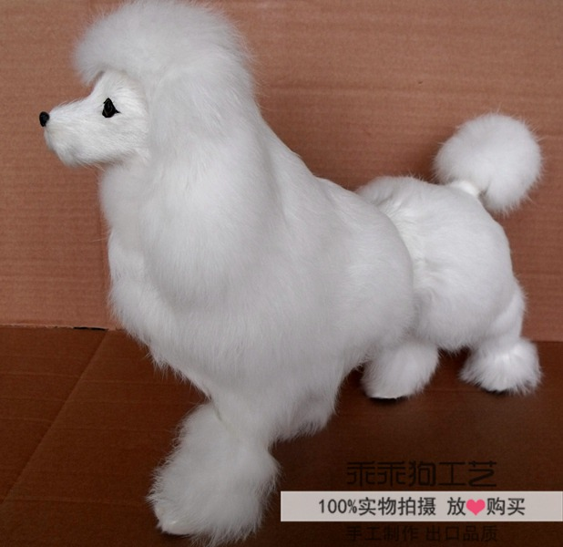simulation cute white poodle 36x12x30cm model polyethylene&furs poodle model home decoration props ,model gift d849 simulation cute squatting white cat 35x15cm model polyethylene
