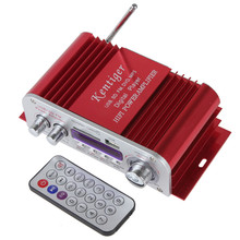 Venta Mini HY3006 Amplificador de Potencia Estéreo Digital de La Motocicleta Auto Del Coche Reproductor de Música de Audio de sonido 12 V MP3 USB SD FM de Potencia amplificador